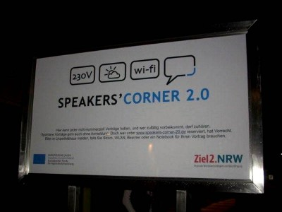 Die Speakers' Corner 2.0 in Essen