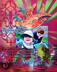 Hello World Scrapbook fr Babybilder