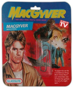 Broklammer als MacGyver Fanartikel
