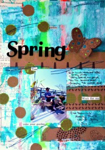 Spring Scrapbook Design